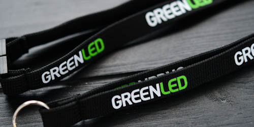 Screen printed lanyards