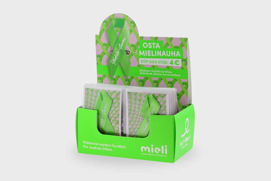 Gift ribbon retail packaging and presentation box