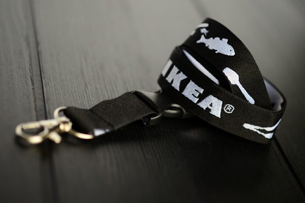 Woven lanyard with logo