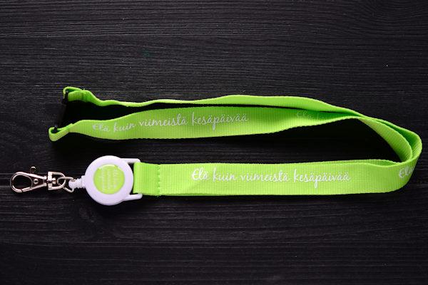 Badge reel lanyards with plastic yoyo