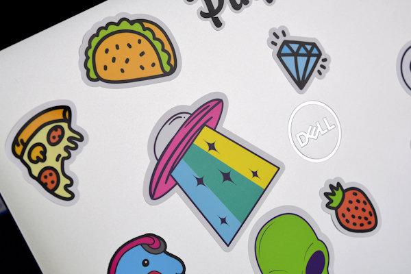 Laptop stickers with custom print