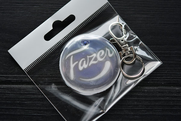 Soft safety reflector with printed logo