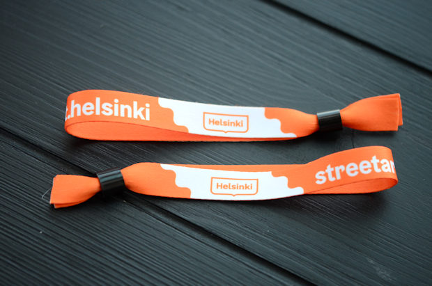 Fabric wristbands with printed logo