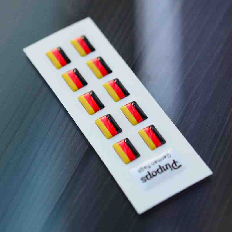 German Language stickers for name badges
