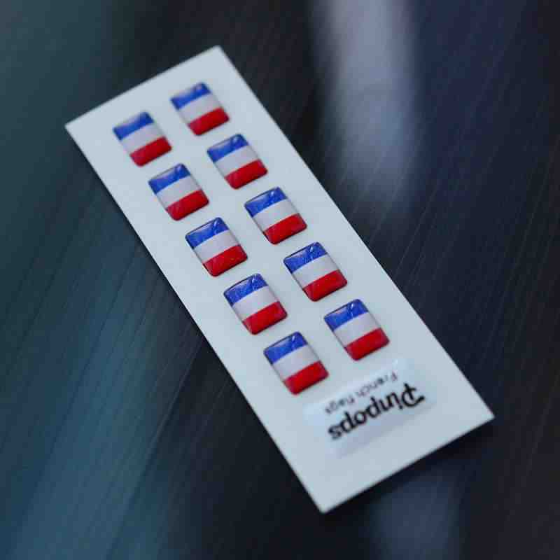French Language stickers for name badges