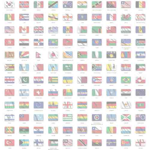 Custom Printed Flag Sticker, any country