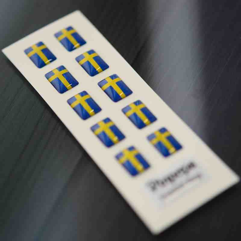 Swedish Language stickers for name badges